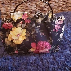 Black with Flowers Mini Bag
